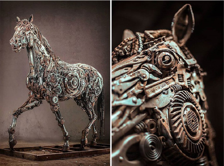 Wonderful Art Sculptures Made of Scrap Metal | 99inspiration