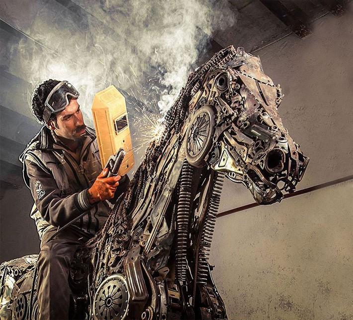 Wonderful art Sculptures 2 Wonderful Art Sculptures Made of Scrap Metal