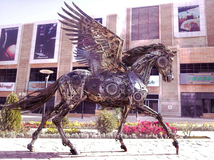 Wonderful art Sculptures 4 Wonderful Art Sculptures Made of Scrap Metal