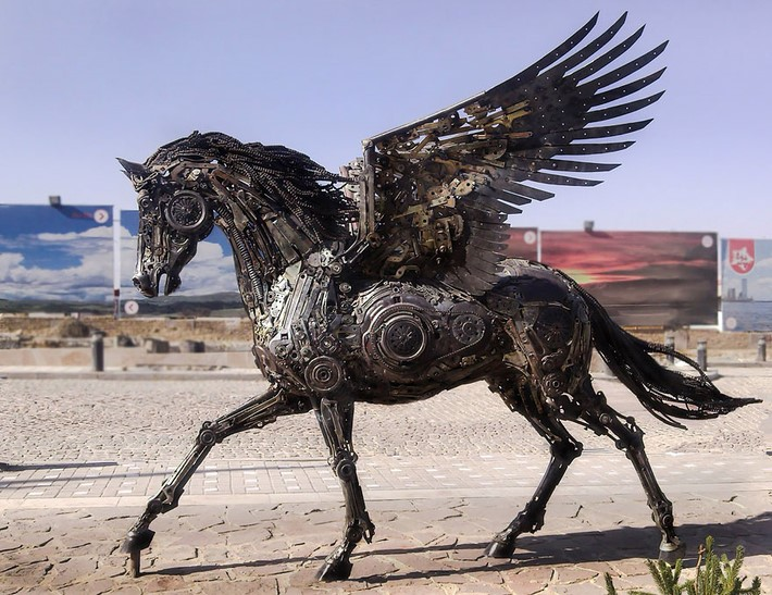 Wonderful art Sculptures 5 Wonderful Art Sculptures Made of Scrap Metal