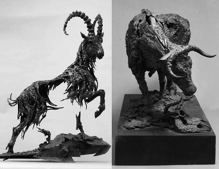 Wonderful art Sculptures 6 Wonderful Art Sculptures Made of Scrap Metal