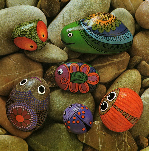 art painting stone2 How to create stone art painting