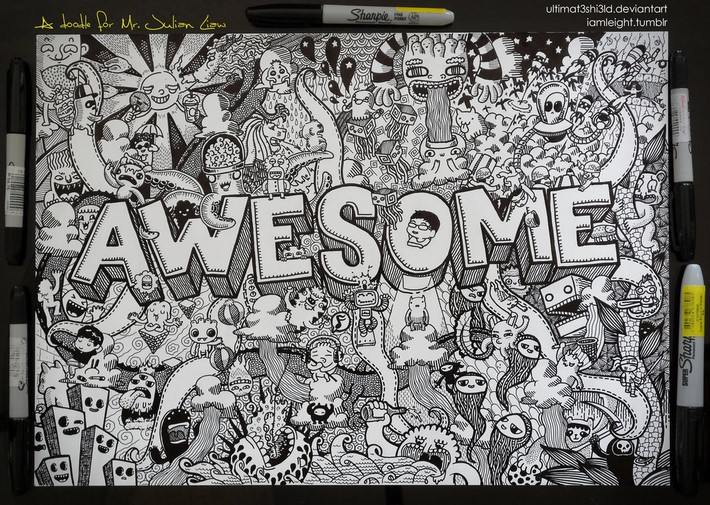 creative doodle art inspirations 11 Creative Doodle Art Inspirations by Lei Melandres