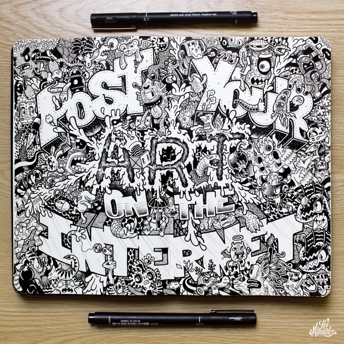 creative doodle art inspirations 14 Creative Doodle Art Inspirations by Lei Melandres