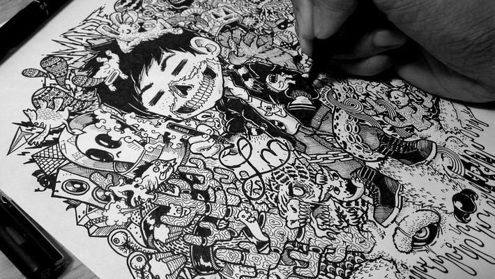 creative doodle art inspirations 4 Creative Doodle Art Inspirations by Lei Melandres