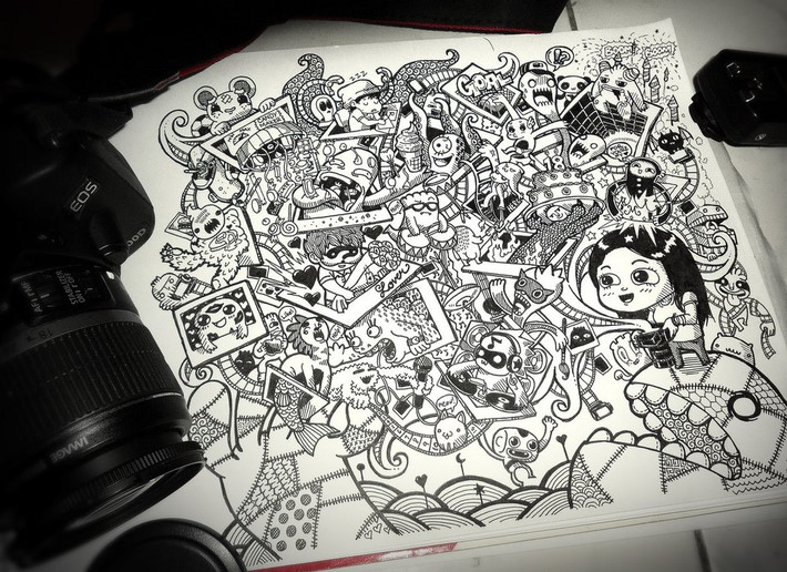 creative doodle art inspirations 7 Creative Doodle Art Inspirations by Lei Melandres