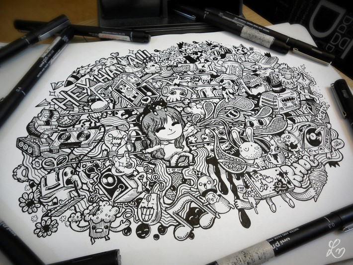 creative doodle art inspirations 8 Creative Doodle Art Inspirations by Lei Melandres
