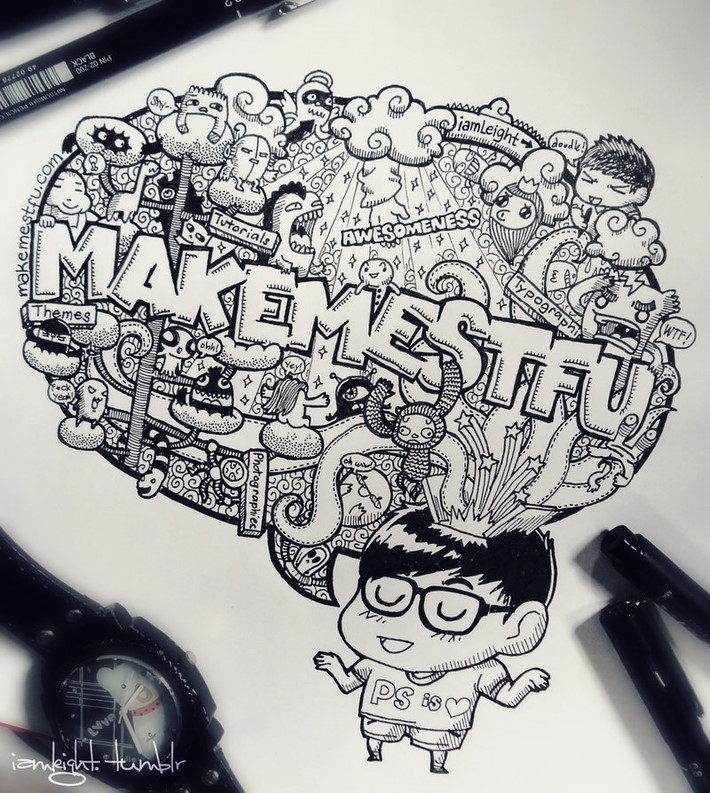 creative doodle art inspirations 9 Creative Doodle Art Inspirations by Lei Melandres