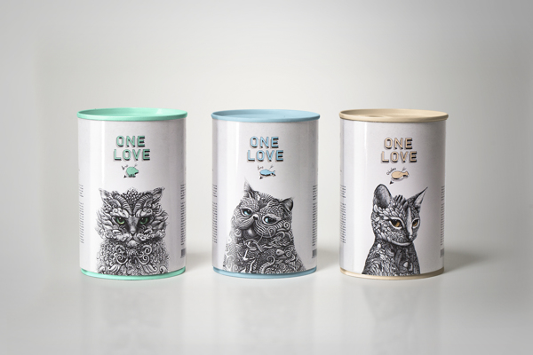 creative packaging design illustrations 3 Creative Cat Food Packaging Illustrations