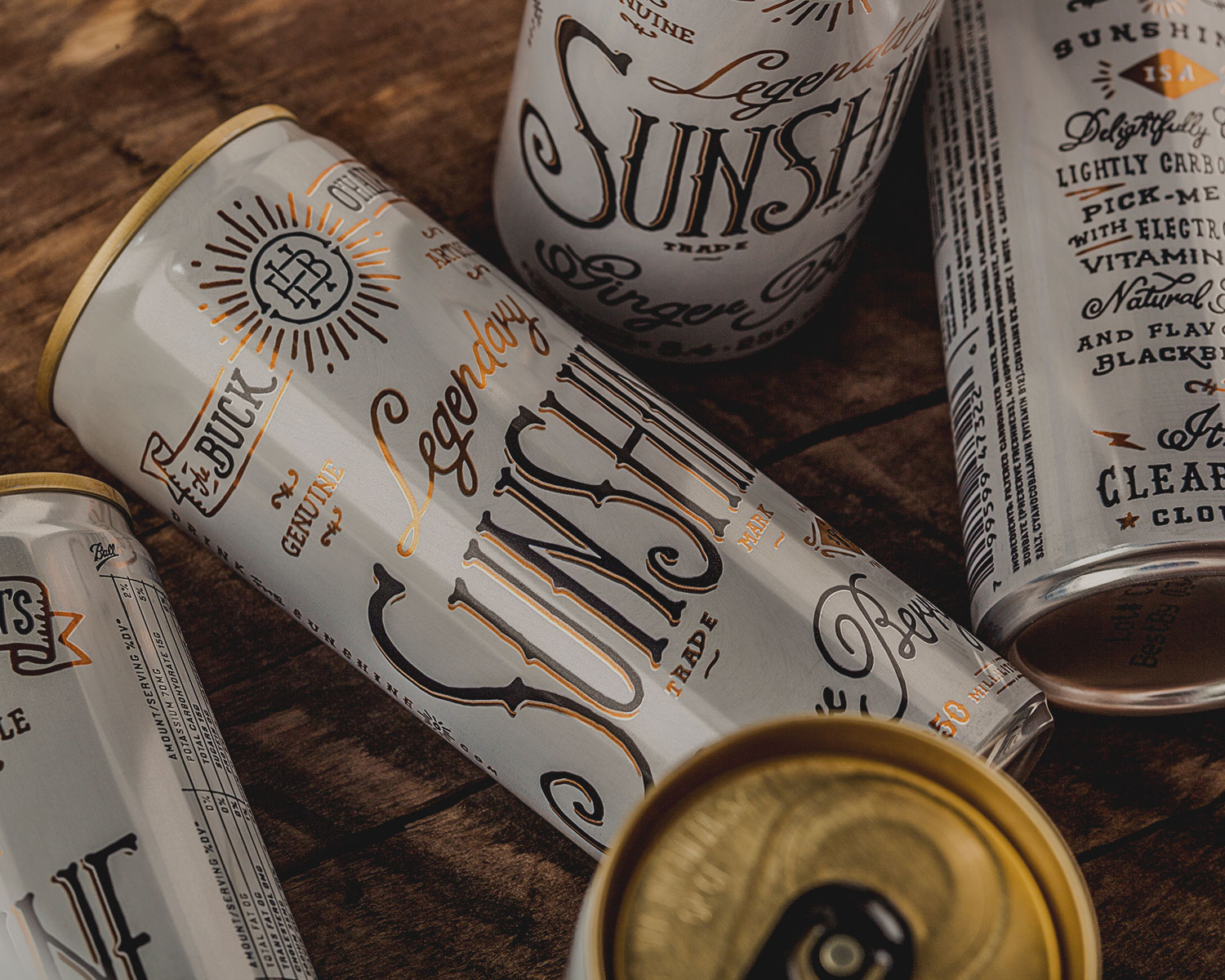 creative packaging typography Creative Typography Packaging with Buck OHairens Sunshine