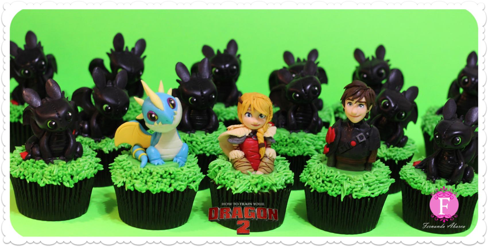 cupcake decorations character 2 Cupcake Decorations of DreamWorks Characters