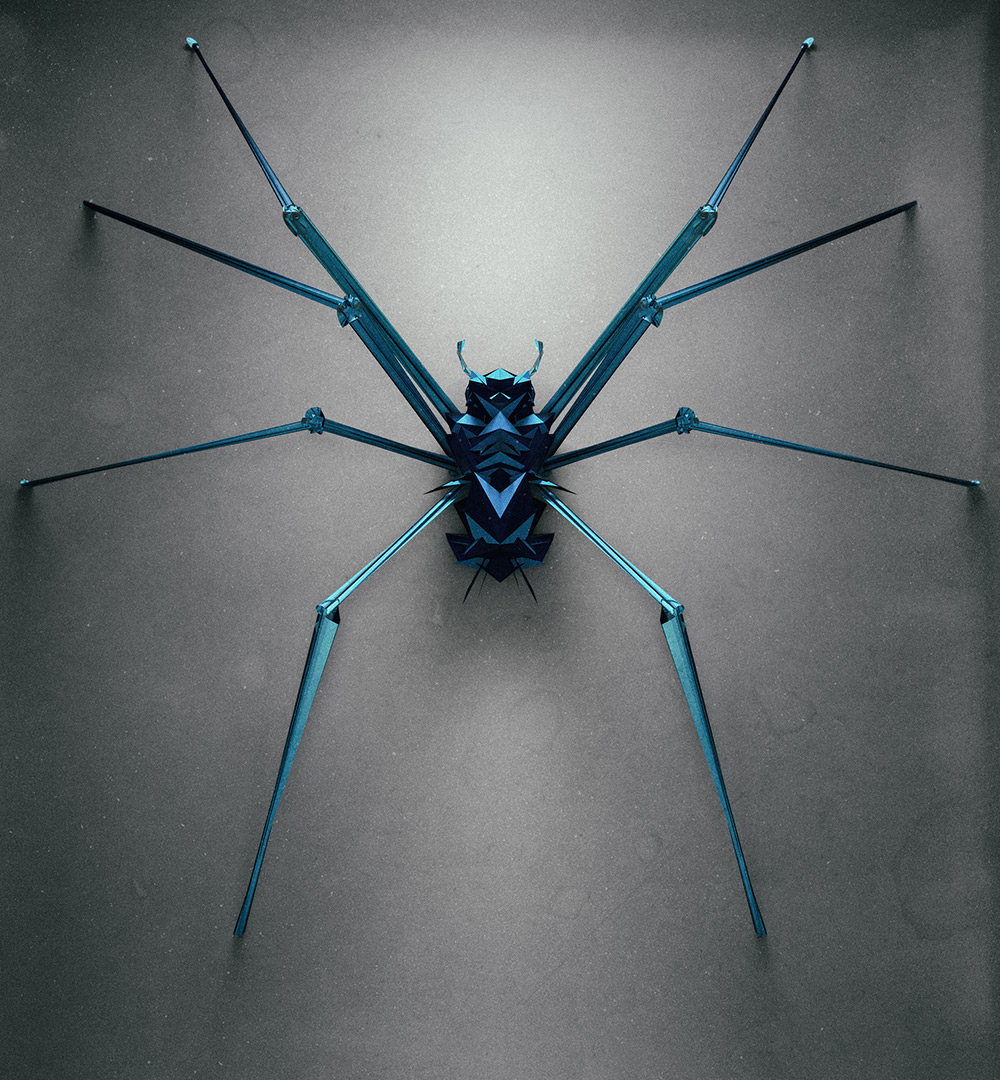 3d insects 4 Generative Polygonal Insects With Cinema 4D