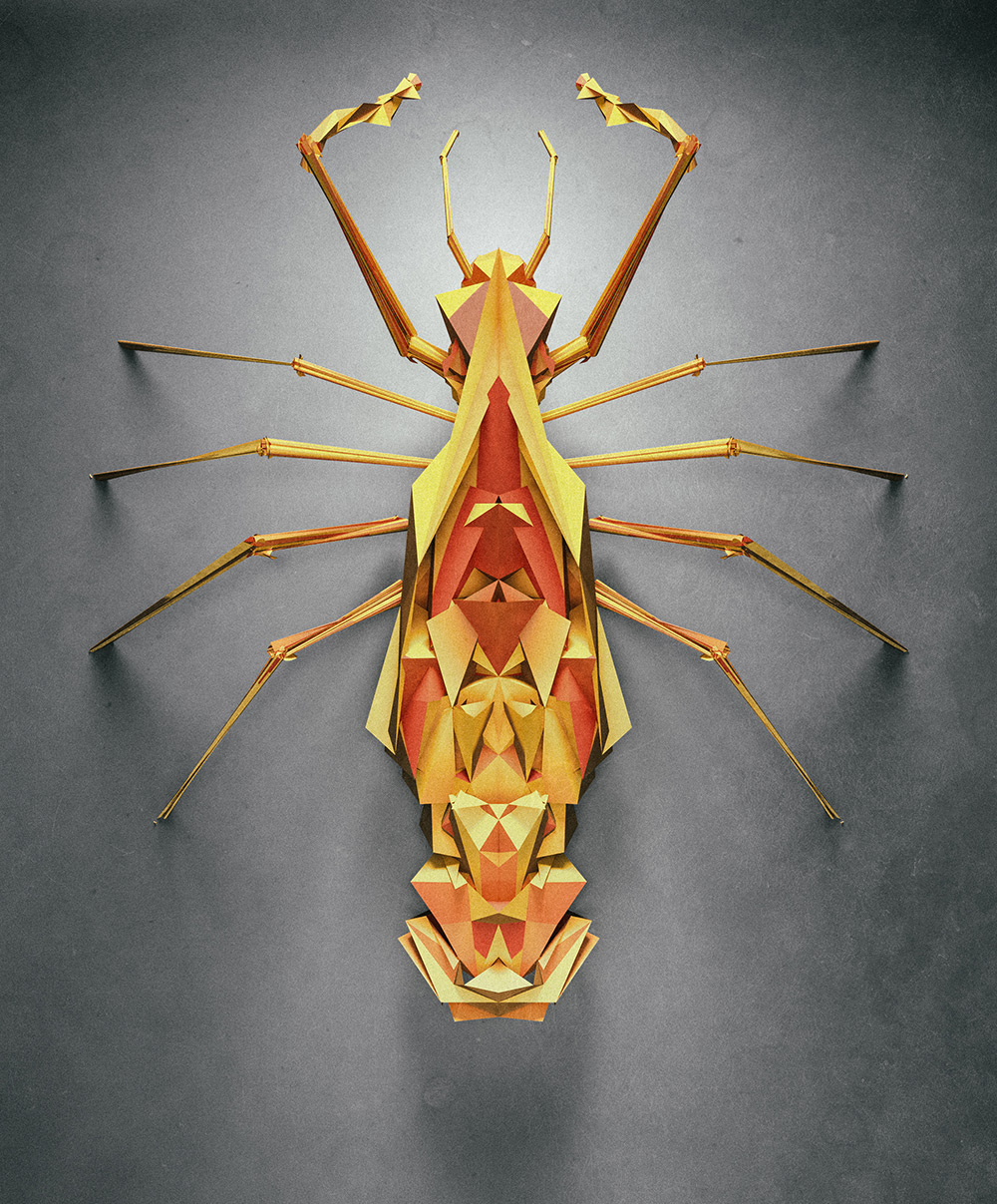 3d insects 6 Generative Polygonal Insects With Cinema 4D