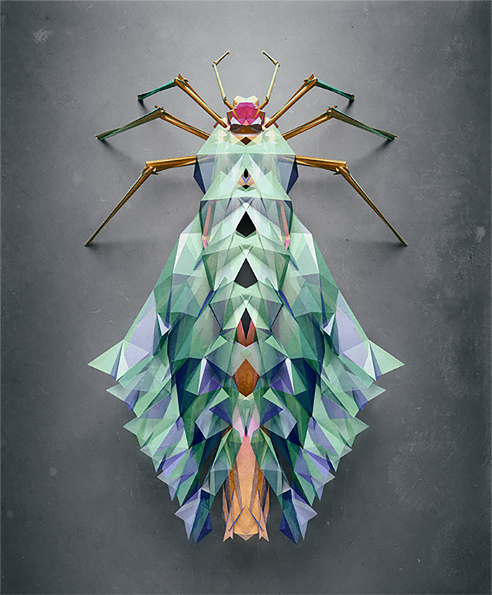 3d insects 7 Generative Polygonal Insects With Cinema 4D