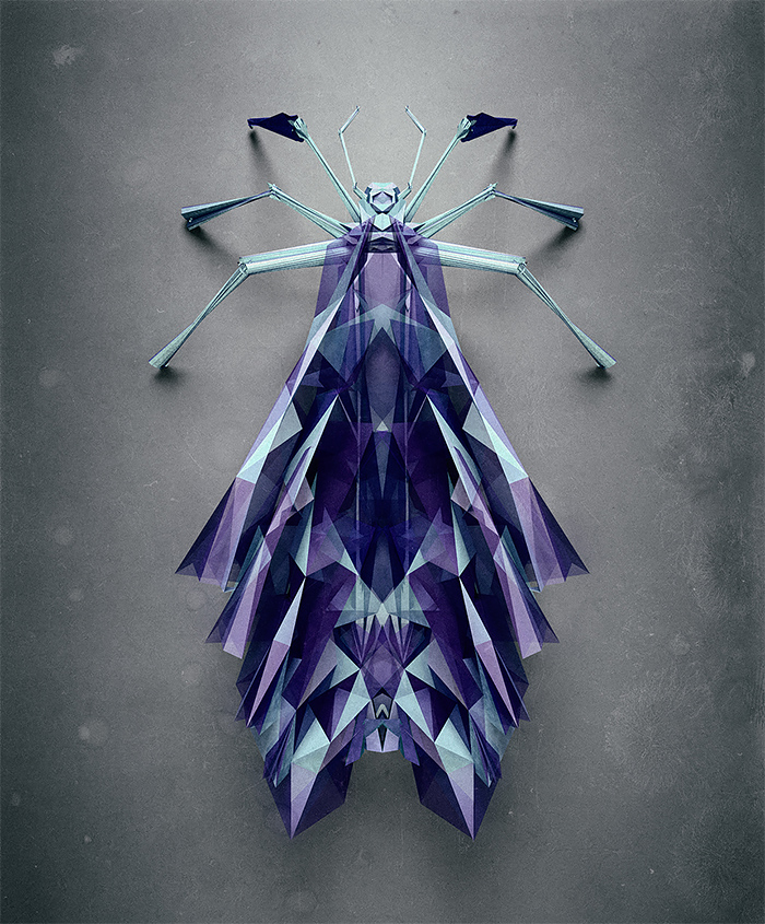 3d insects 8 Generative Polygonal Insects With Cinema 4D
