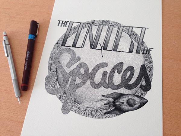 Best Stippling Typography Incredible stippling Art Typography & Illustrations by Xavier Casalta