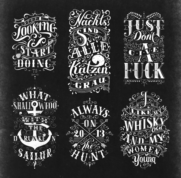 Best lettering design exemples Creative Lettering And Drawing Design By Tobias Saul