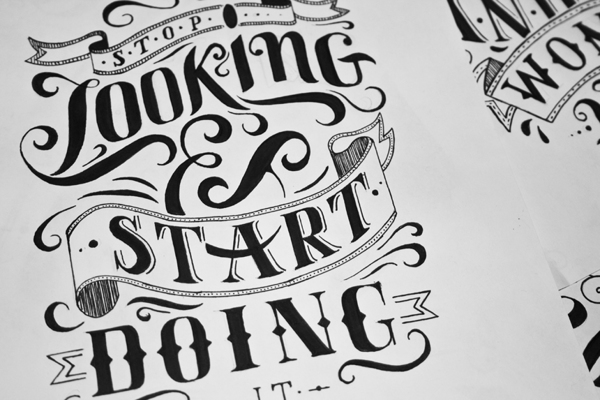 Creative lettering design book