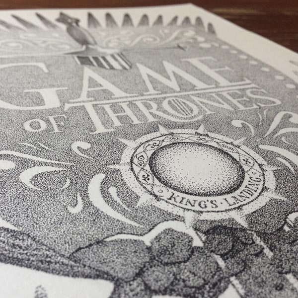 Incredible Stippling Art Typography Design 1