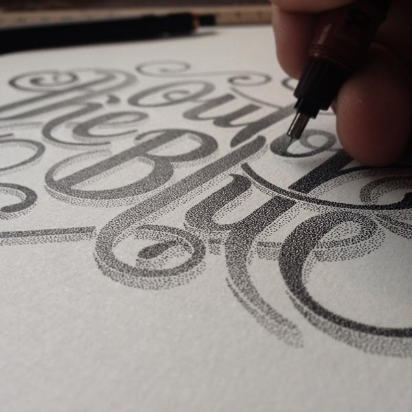 Incredible Stippling Art Typography and Illustrations
