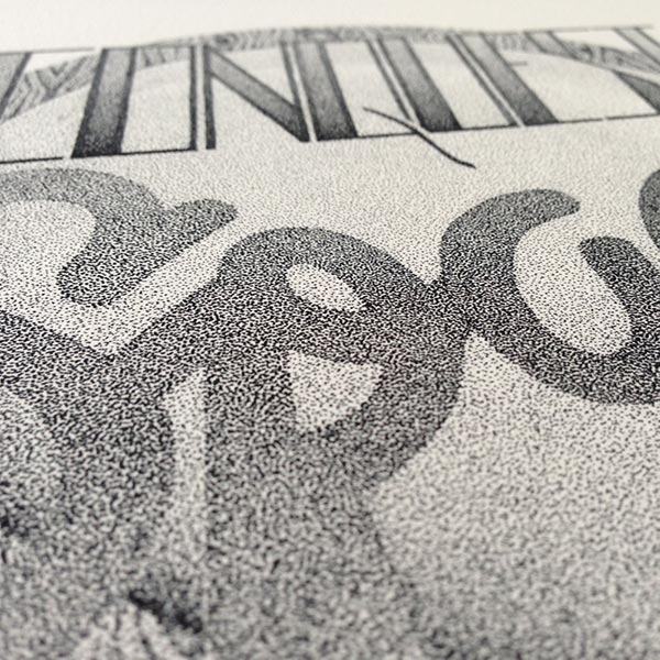 Incredible Stippling typography design Incredible stippling Art Typography & Illustrations by Xavier Casalta
