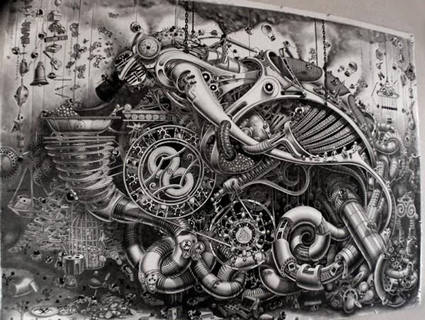 Incredible Surreal Mural Drawings 2