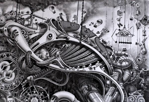 Incredible Surreal Mural Drawings 6