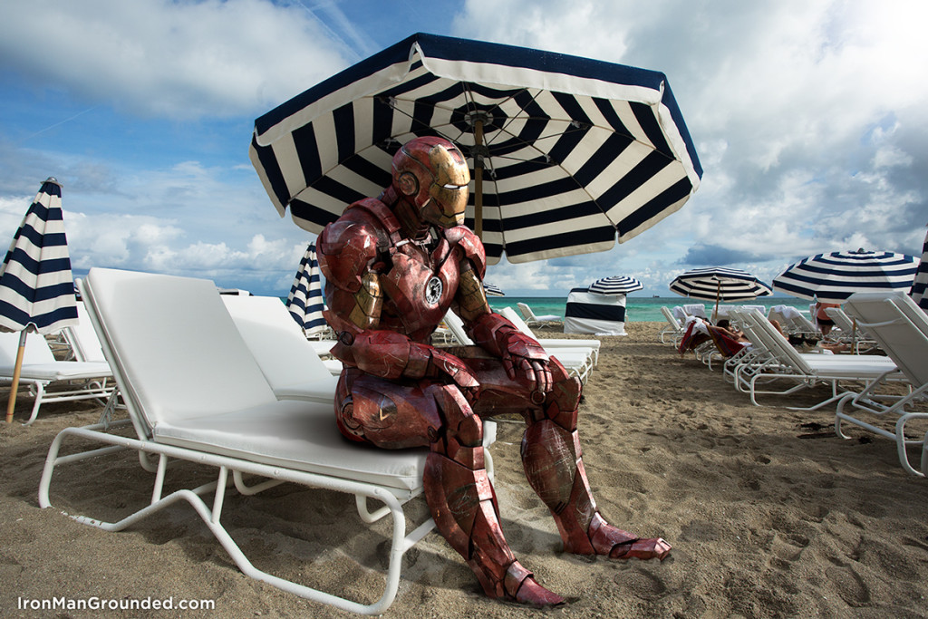 Iron man in the beach 1024x683 Iron Man Grounded Humanizes   What Happened With Him