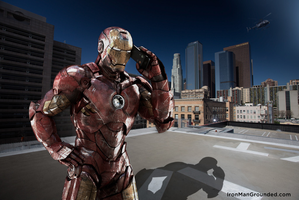 Iron man pick up the phone 1024x683 Iron Man Grounded Humanizes   What Happened With Him