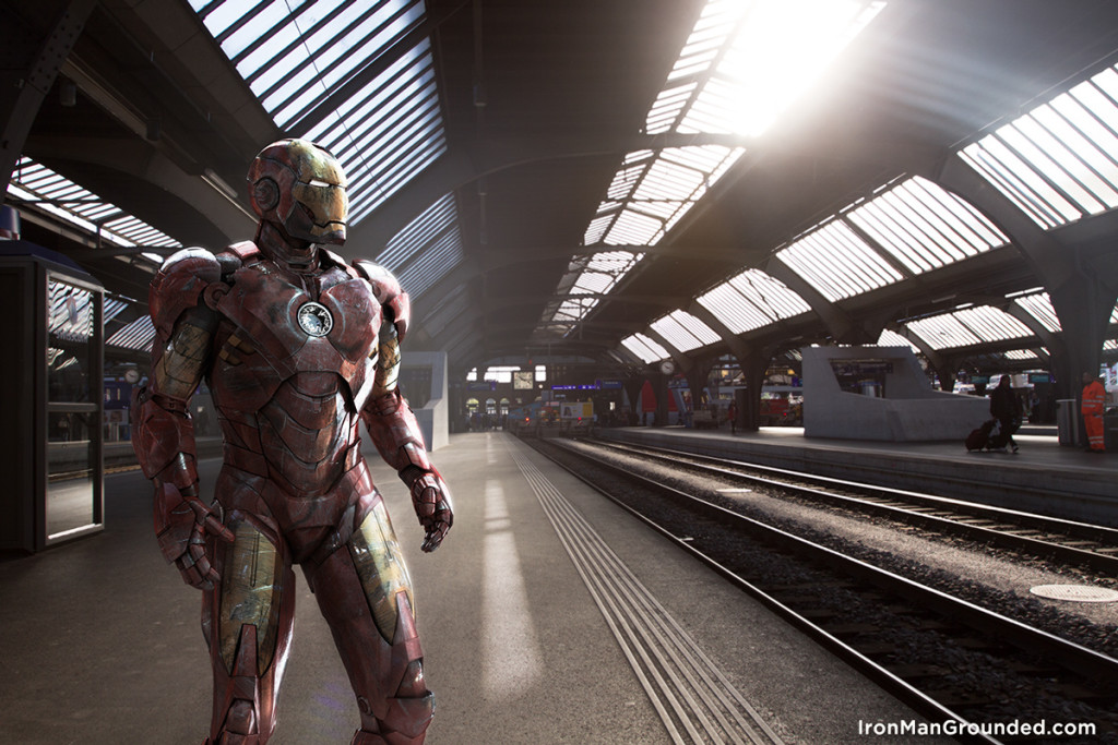 Iron man waiting train 1024x683 Iron Man Grounded Humanizes   What Happened With Him