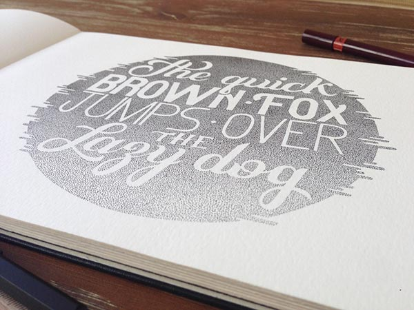 Stunning Stippling Art Typography and illustration Incredible stippling Art Typography & Illustrations by Xavier Casalta