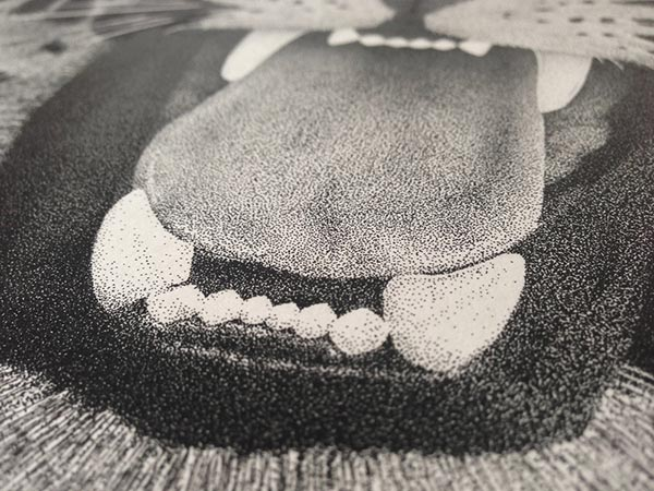 Wonderful Stippling Art Illustrations Incredible stippling Art Typography & Illustrations by Xavier Casalta