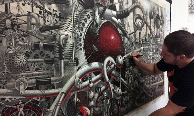 Wonderful detailed intricate drawings 10 Detailed intricately Large Scale Drawings Murals By Samuel Gomez