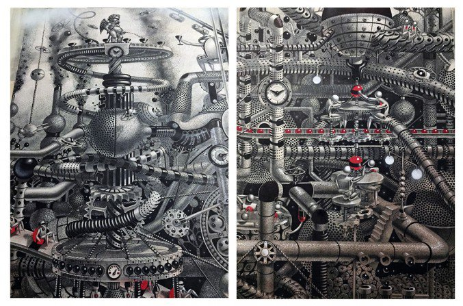 Wonderful detailed intricate drawings 6 Detailed intricately Large Scale Drawings Murals By Samuel Gomez