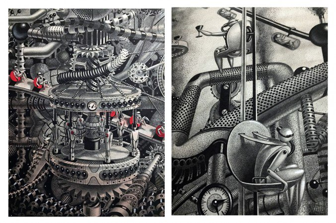 Wonderful detailed intricate drawings 9 Detailed intricately Large Scale Drawings Murals By Samuel Gomez
