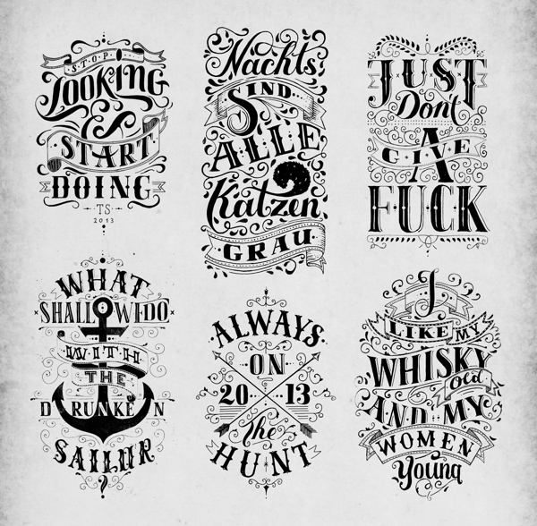 Wonderful lettering design exemples Creative Lettering And Drawing Design By Tobias Saul