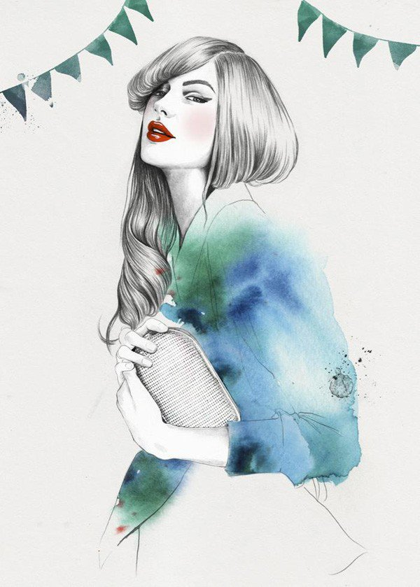 elegant digital art illustrations 9