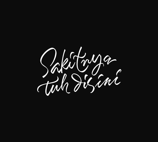 Collection hand lettering font Artimasa Studio 01 Simple Hand Lettering Font Design By Artimasa Studio