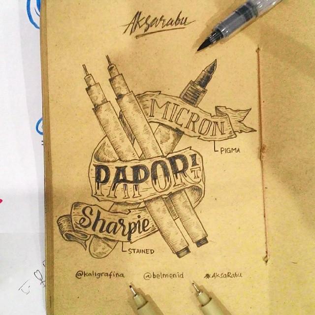 Creative Hand Lettering Alphabet Style Dimaz Fakhruddin