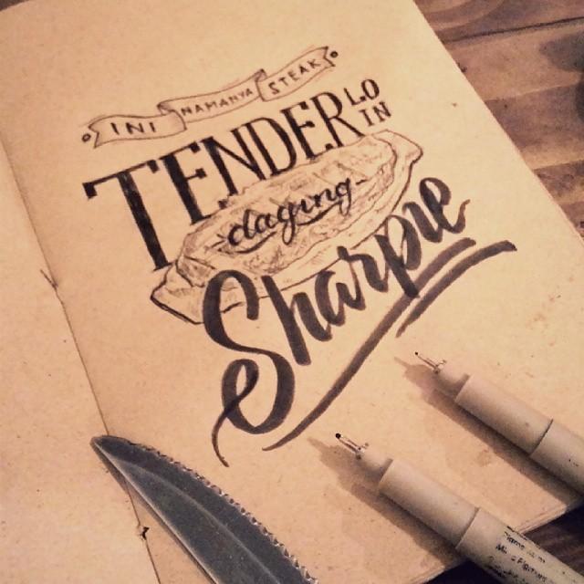 Creative hand lettering style  - Dimaz Fakhruddin