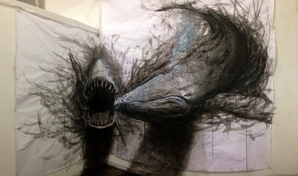 Main blowing 3d drawings art of animals 02