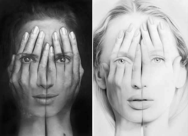 Realistic Double Exposure Paintings Art
