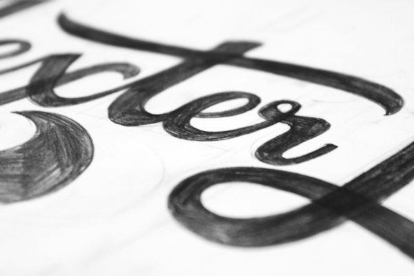 Sketch typography font style Ged Palmer 01 Creative Typography Font Styles by Ged Palmer