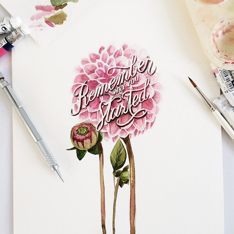 Amazing Watercolor Lettering Quotes by june Digan Creative Watercolor Lettering Quotes by June Digan