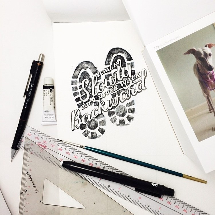 Beauty Watercolor Lettering Quotes by june Digan 01 Creative Watercolor Lettering Quotes by June Digan