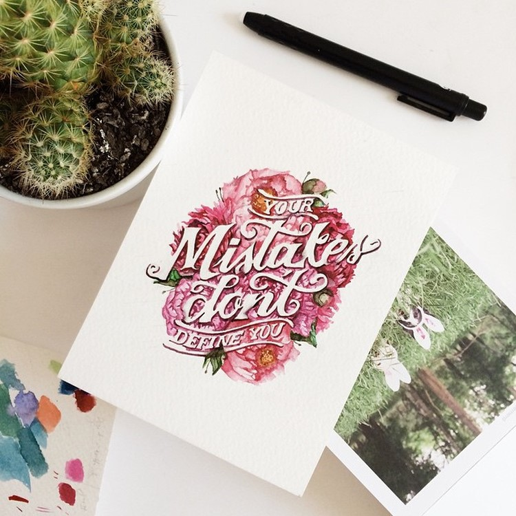 Beauty Watercolor Lettering Quotes by june Digan Creative Watercolor Lettering Quotes by June Digan