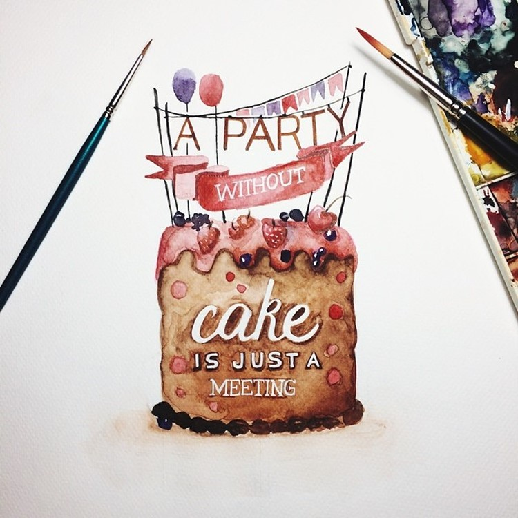 Best Watercolor Lettering Quotes by june Digan Creative Watercolor Lettering Quotes by June Digan