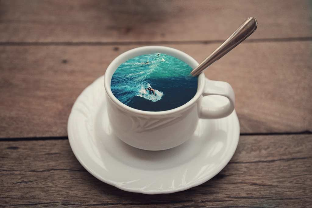 Creative Concept of Manipulations Photos by Victoria Siemer 1024x684 Unique Coffee Cup Manipulations by Victoria Siemer
