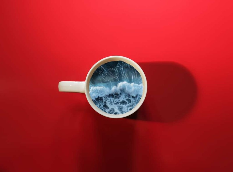 Creative Manipulations Photos by Victoria Siemer Unique Coffee Cup Manipulations by Victoria Siemer
