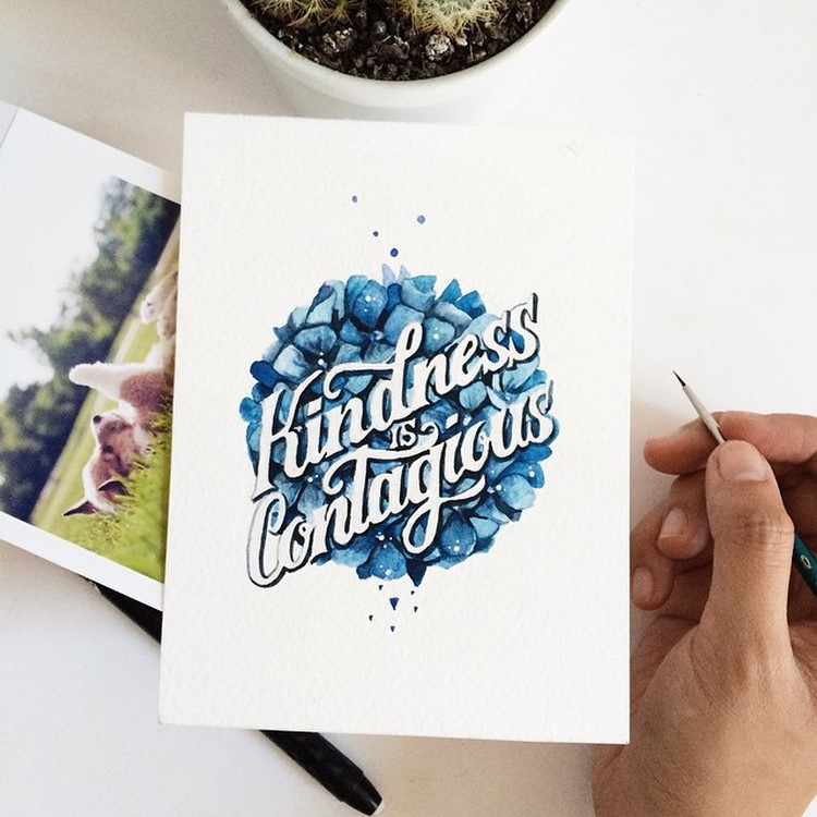 Creative Watercolor Hand Lettering Quotes by june Digan Creative Watercolor Lettering Quotes by June Digan